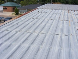 Metal Roof Before SPF